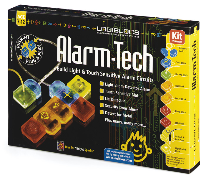 Logiblocs Alarm Tech Packaging Designer