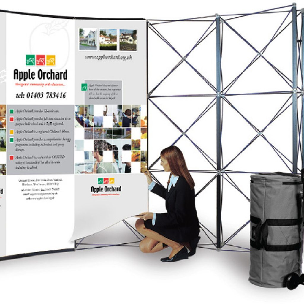 Small Exhibition Stand Up : Pop up exhibition stands adelante design