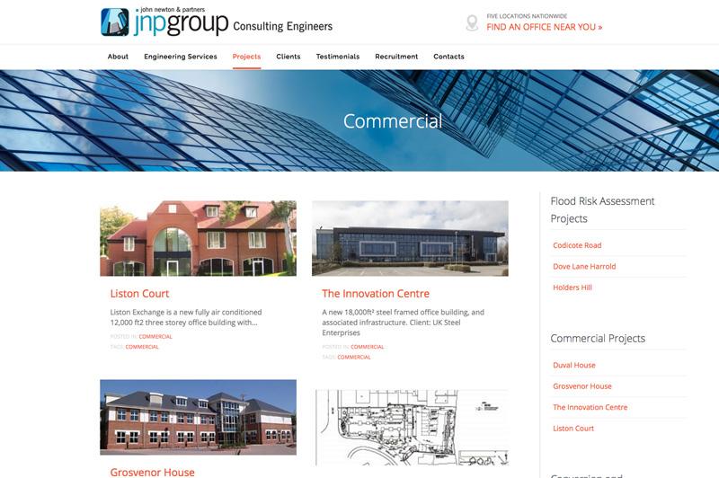 jnpgroup website design