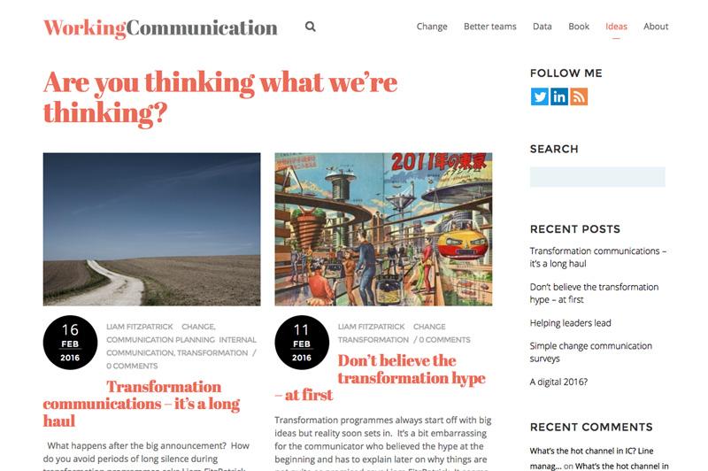 working communication website
