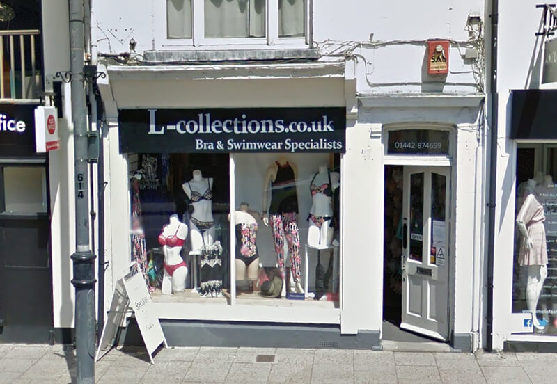 The L Collection Shop Front Before