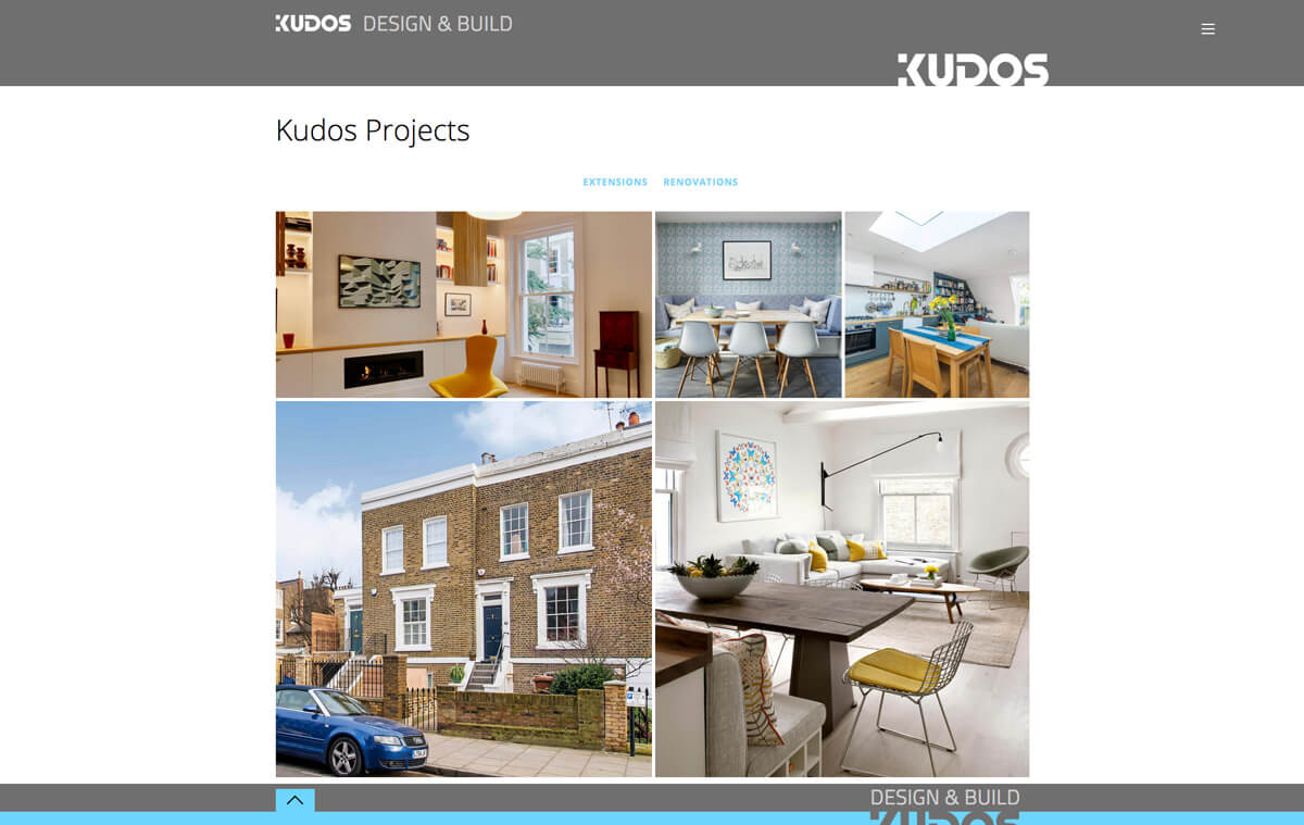 Kudos Projects Page