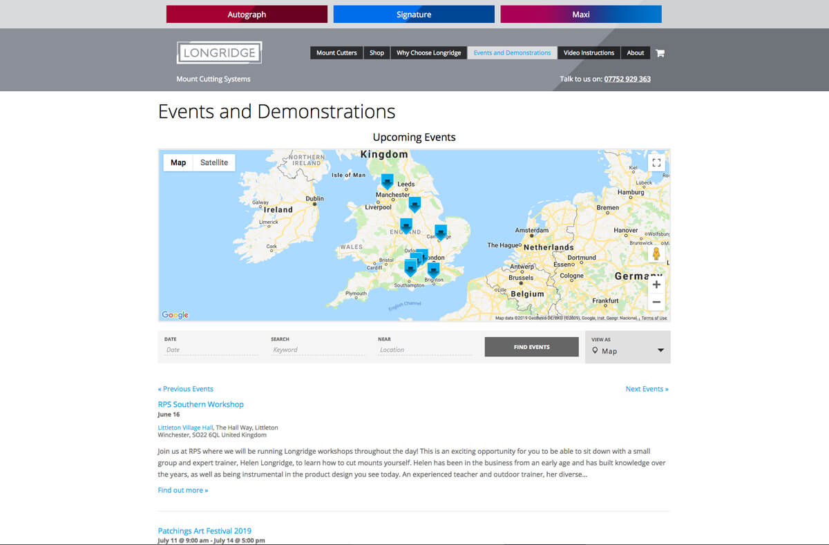 Longridge Events Map